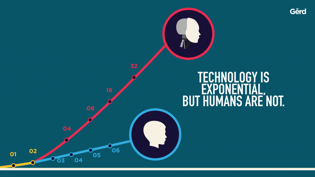 humans exponential not JFC gerd leonhard